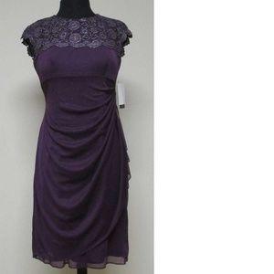 Dress, lace, purple
